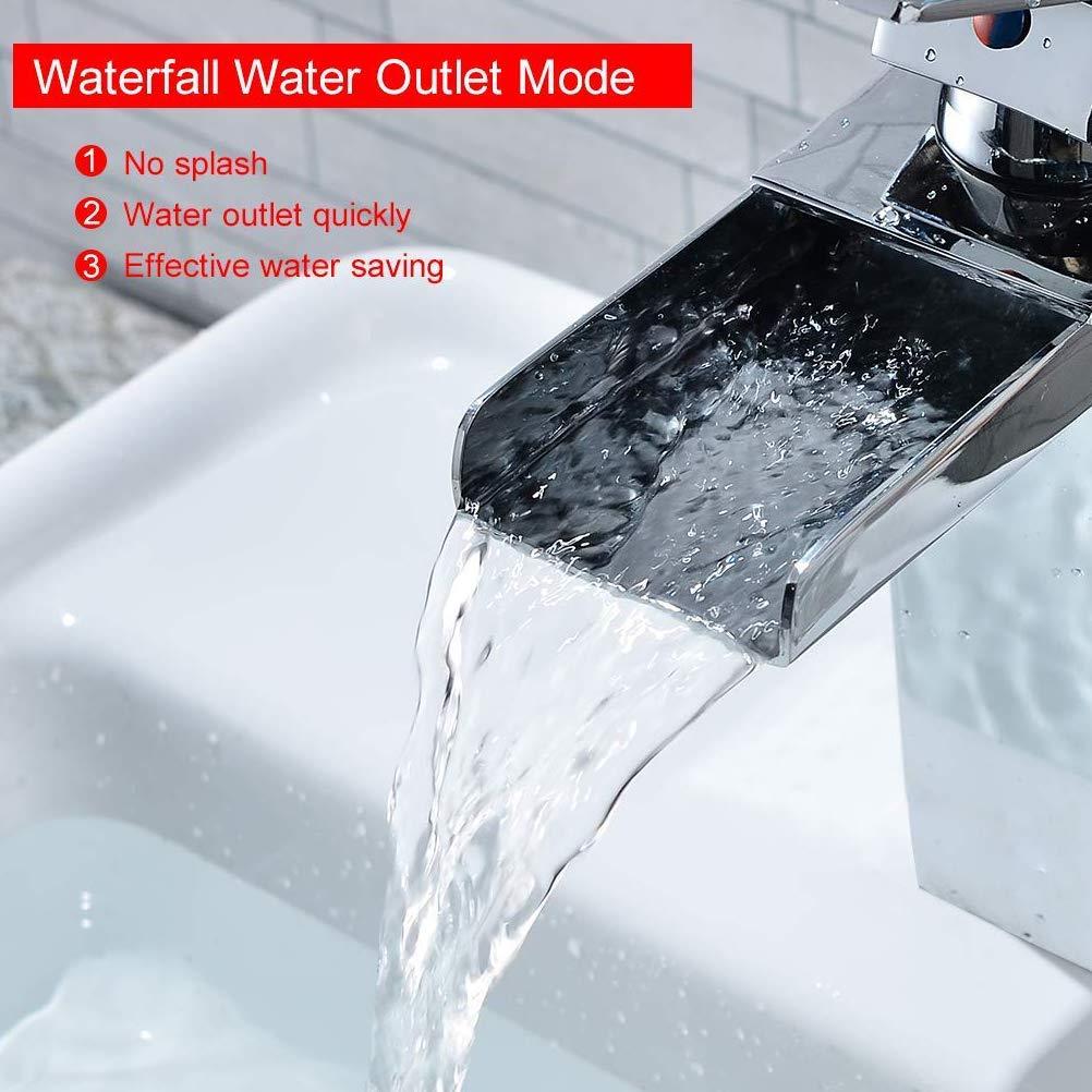 Bathroom Chrome Mono Basin Sink Mixer Tap Modern Luxury Bathroom Lever Faucet