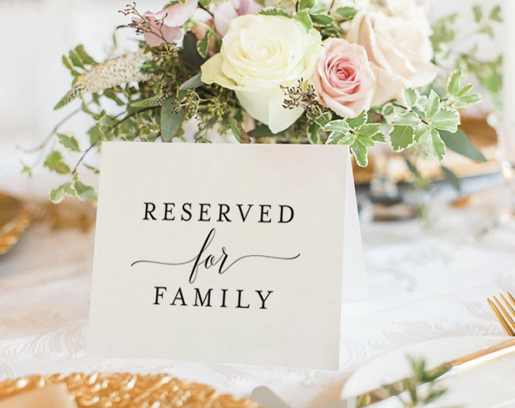 Bliss Paper Boutique Reserved Signs for Wedding Reception, 4x6 Reserved Table Cards, Table Setting Cards - Pack of 10 from