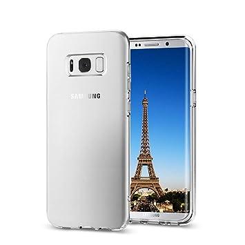 Funda para Samsung Galaxy S8, TPU Carcasa,Resistente a Golpes,Arañazos,Silicona Cover