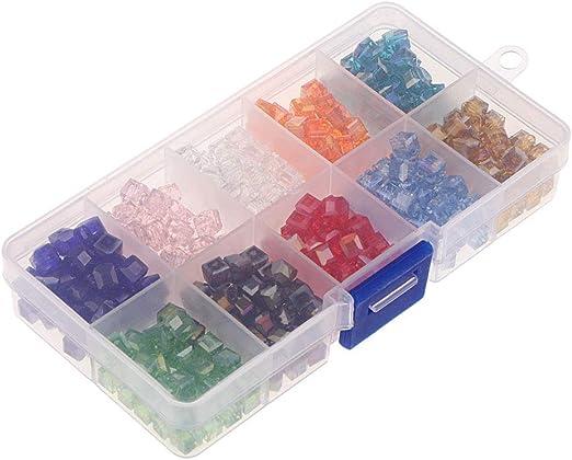 IPOTCH 1 Estuche Granos de Cubos Cuadrados para Hacer Brazalete Pulsera Joyería Abalorios DIY - 6mm: Amazon.es: Hogar