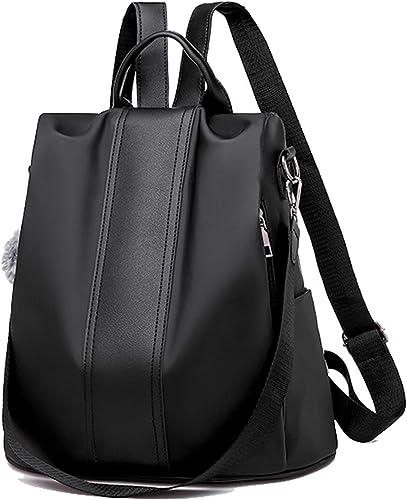 Women Anti-theft Waterproof Nylon Backpack Travel Rucksack Shoulder Tote Bags