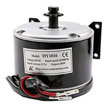 JCMOTO 24V 250W Brushed Motor For Electric Go Kart Scooter E Bike