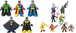 Fisher-Price Imaginext Batman 80th Anniversary 5-Pack [Amazon Exclusive] & Imaginext DC Super Friends Super-Hero Showdown Figure Set [Amazon Exclusive]