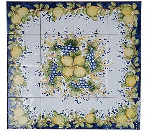 Tavoli Da Giardino In Ceramica Di Vietri.Tavolo Da Giardino In Ferro Battuto E Mattonelle In Ceramica Di
