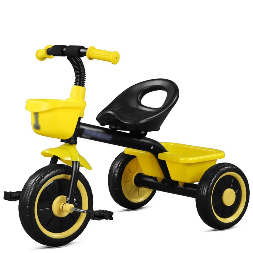 HAIZHEN マウンテンバイク 子供用自転車三輪車赤黄色青2-3-5歳の赤ちゃん安全で安定した 新生児  イエロー いえろ゜ B07CCKJLHB