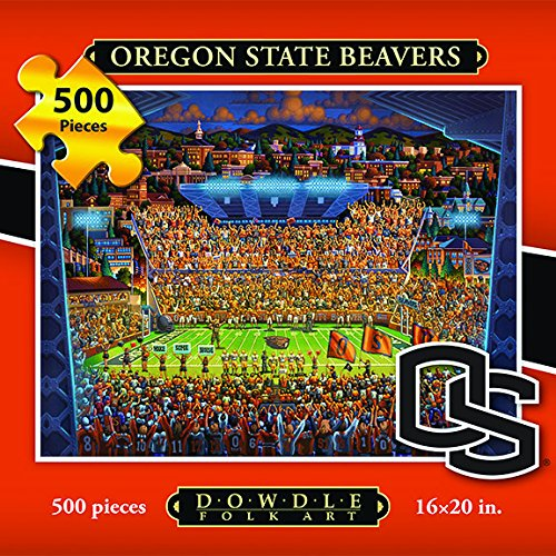 Jigsaw Puzzle - Oregon State University Beavers-OSU-500 Pc By Dowdle Folk Art