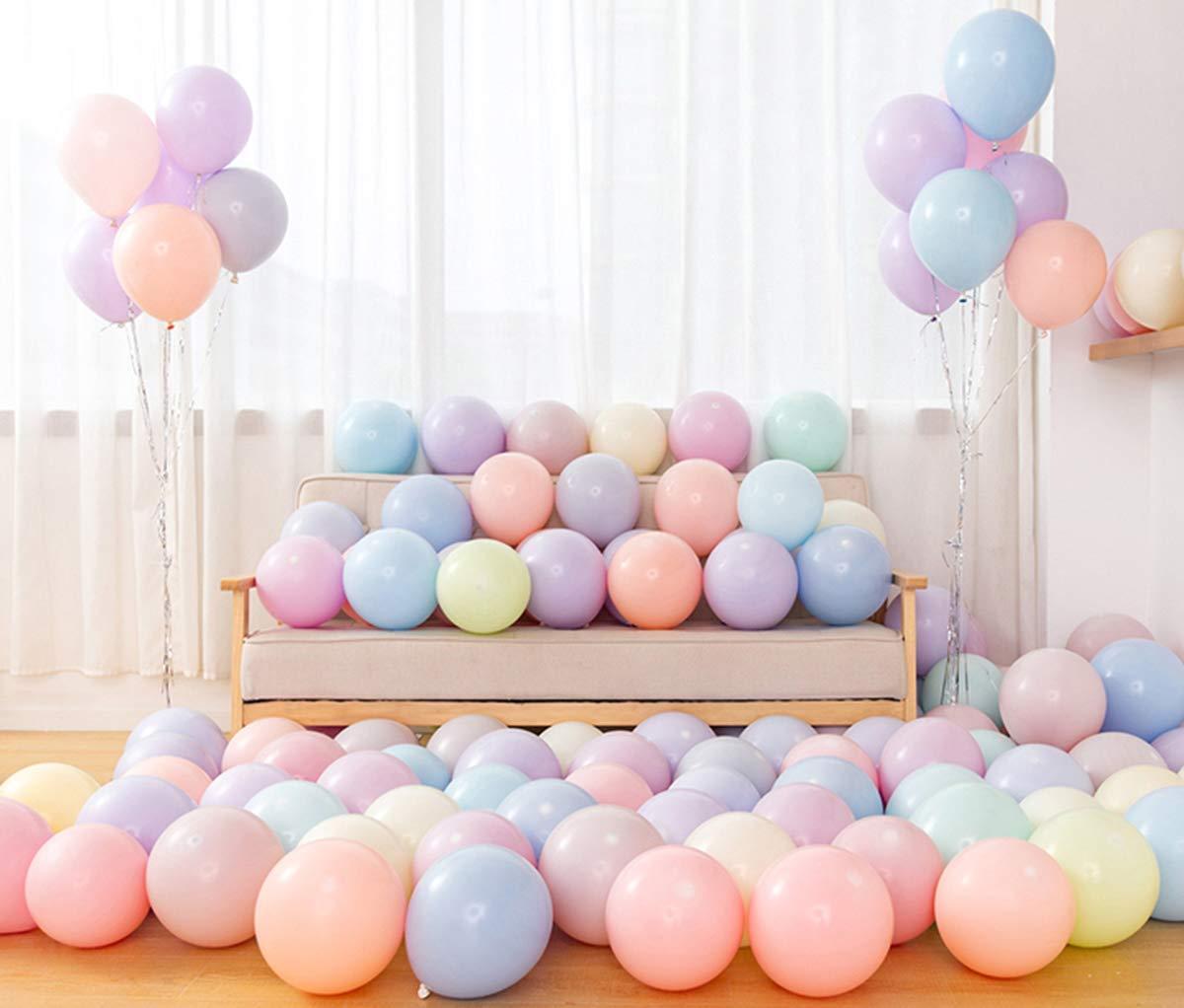 100-PACK Sunshine smile Luftballons Pastell,Bunte Luftballons,Helium Luftballons,Latex Luftballons,Farbige Ballons,Partyballon,Dekorative Ballons f/ür Hochzeit Weihnachten