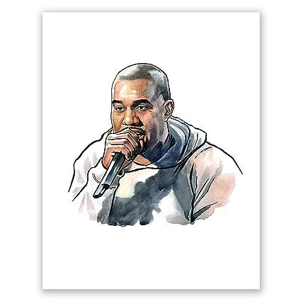 0b3148bf4f699 Amazon.com: AtoZStudio A47 Kanye West Poster // Ye Art Print ...