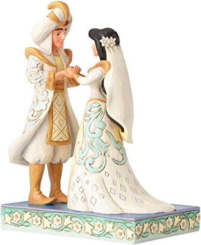 Jim Shore Disney Traditions Jasmine and Aladdin Wedding Figurine