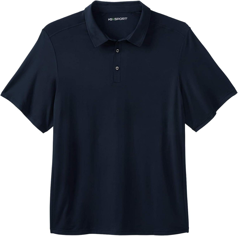 Kingsize Sport Collection Mens Big /& Tall Tech Polo