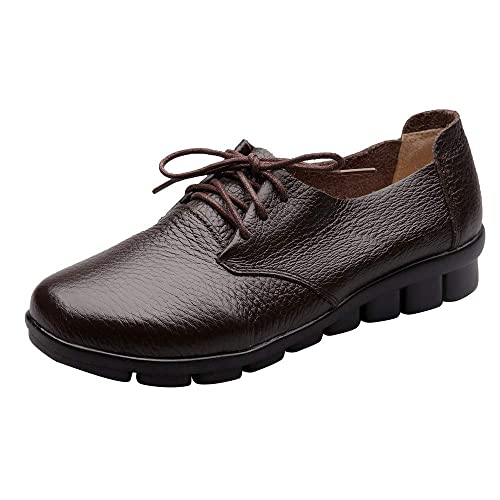 Hand-Stitched Leather Loafers, Women