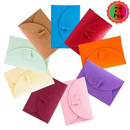 YuChiSX 72 Piezas de Sobre de papel Kraft,Multicolor Pequeño ...