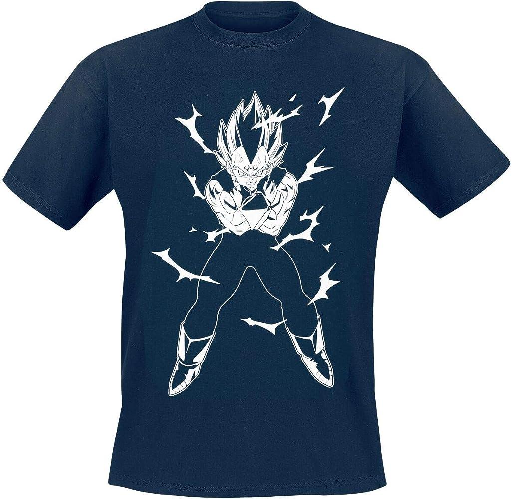 ABYstyle - Dragon Ball - Camiseta - Vegeta - Hombre - Azul (M): Amazon.es: Ropa y accesorios