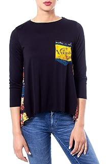 Desigual Longues 19wwtkcn M T Femme À Noir Lindsey Ts Shirt Manches I9H2WED