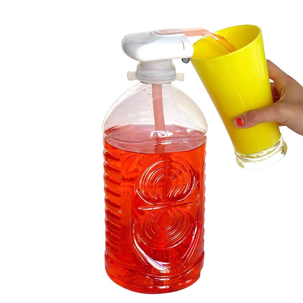 Automatic Drink Dispenser Gadget Siebwinn Spill Proof Portable Electric Tap Automatic Water Drink Dispenser Pumps for Milk Juice Beer Beverage Bottle Magic tap