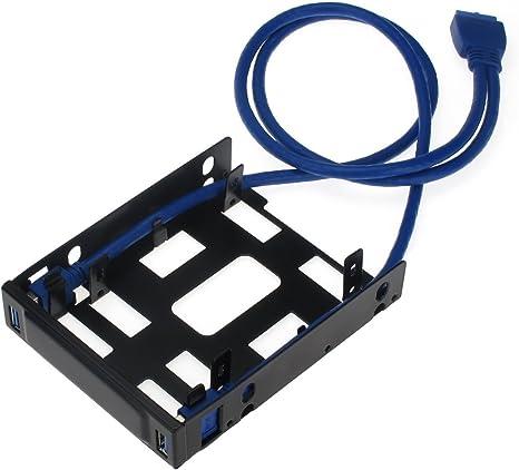 Sedna - de Montaje de bahía de Disquetera Adaptador para 2 x 6,35 cm Disco Duro/SSD con Puerto 2 x USB 3,0: Amazon.es: Informática