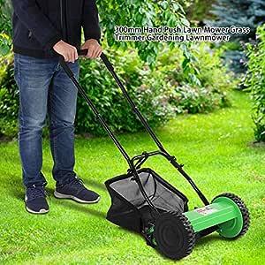 SOULONG Cortadora de Césped Manual de Altura Ajustable para Jardín ...