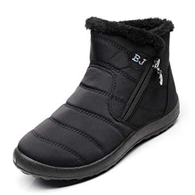 f5cb32157 Stunner Women Warm Ankle Snow Boots Fur Lining Thickening Slip On ...