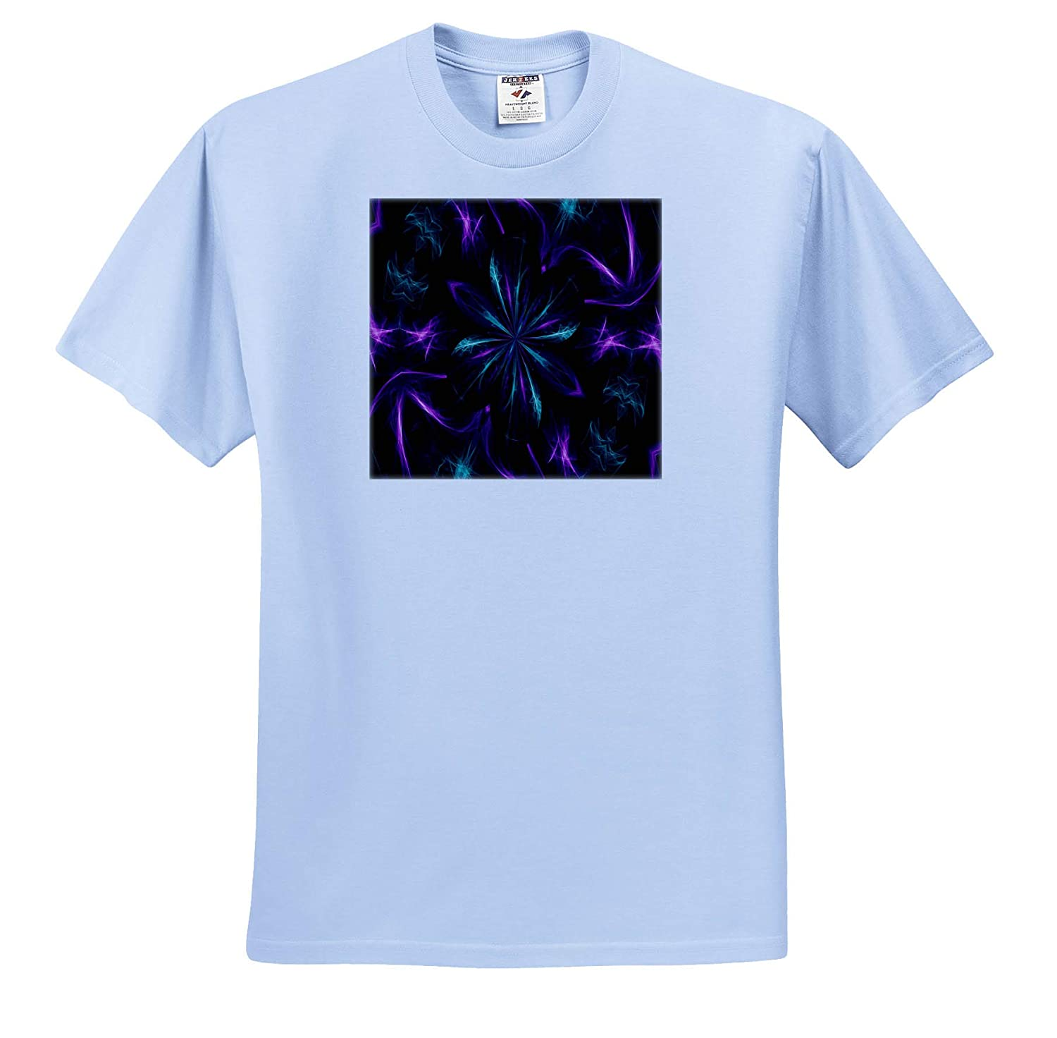 Adult T-Shirt XL Purple and Teal Dreamscapes Design 1 3dRose Dreamscapes by Leslie ts/_314281 Design