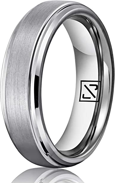 Tungsten Wedding Ring,Mens Wedding Band,Silver Brushed,Wedding Band Ring,Anniversary Ring,Promise Ring,Comfort Fit