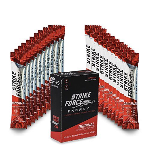 Strike Force Energy - 10 Ct Boxes - Original - Liquid Energy Drink Mix - Portable Packets