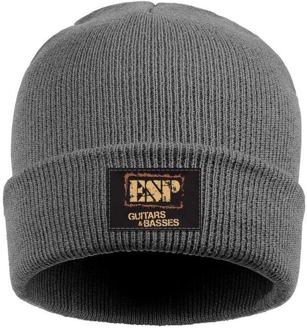 Winter Ski for Mens Womens Beanie Hats Unisex Fine Knit Caps ESP-Guitars-Logo