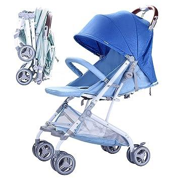 Cochecito Carrito De Bebé Carro Plegable Sentado Paraguas Simple Cuatro Ruedas,Blue: Amazon.es: Deportes y aire libre