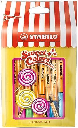 Imagen deSTABILO point 88 mini - Rotulador punta fina mini - Estuche edición limitada Sweet Colors con 15 colores