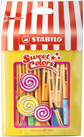 Image of STABILO point 88 mini - Rotulador punta fina mini - Estuche edición limitada Sweet Colors con 15 colores