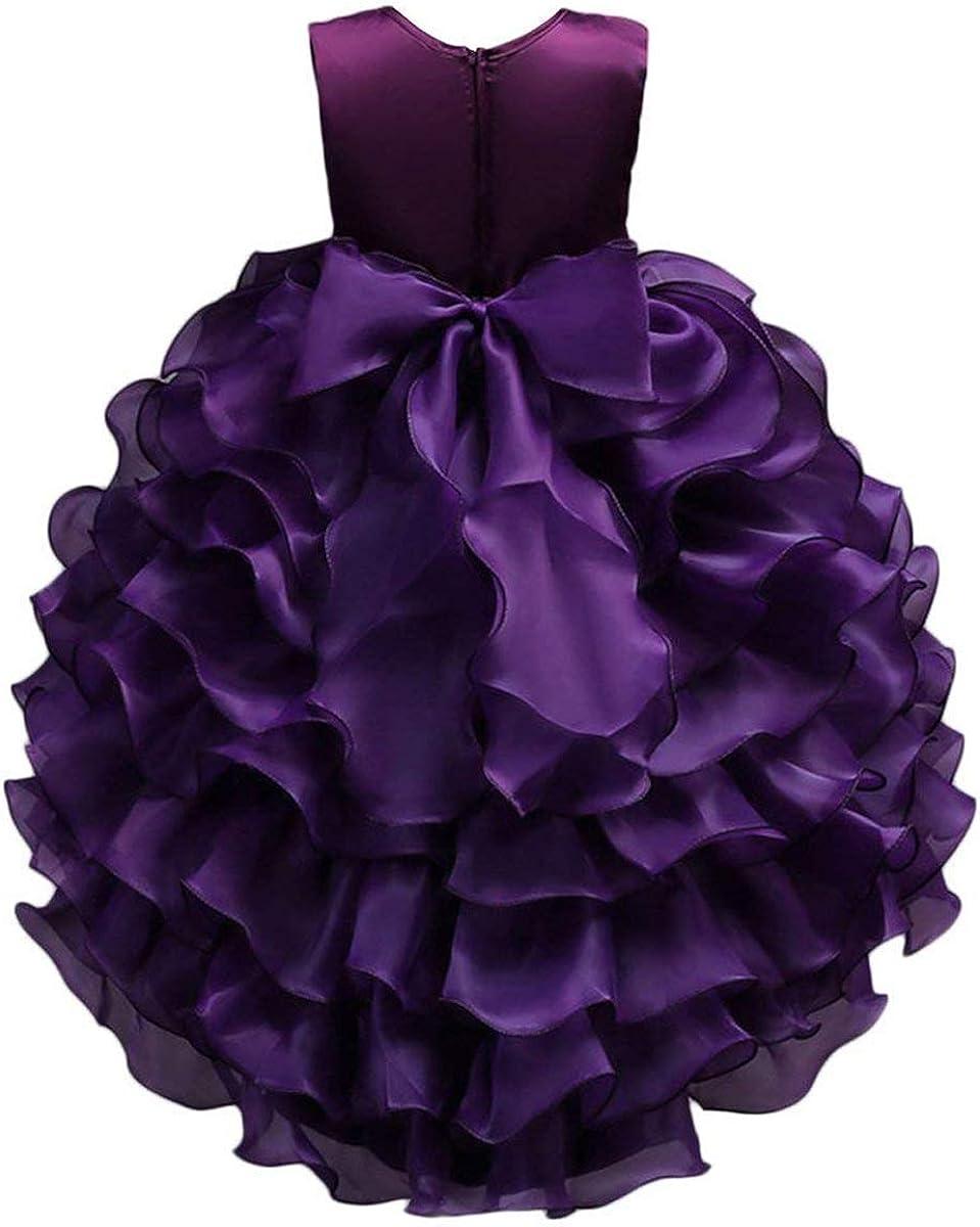 BAIHUODRESS Girl Dress Kids Ruffles Lace Party Wedding Dresses