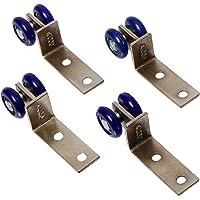 Sourcingmap a12110600ux0416-4pcs ruedas dobles de plástico azul diseño