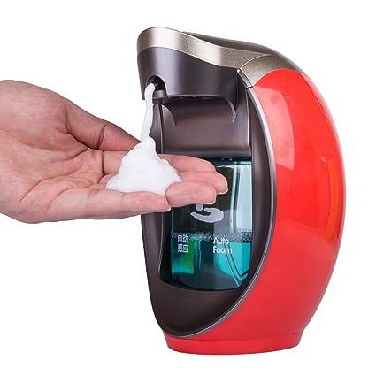 yunt dispensador de jabón automático 480 ml dispensador jabón espuma líquido para cocina dispensador de gel