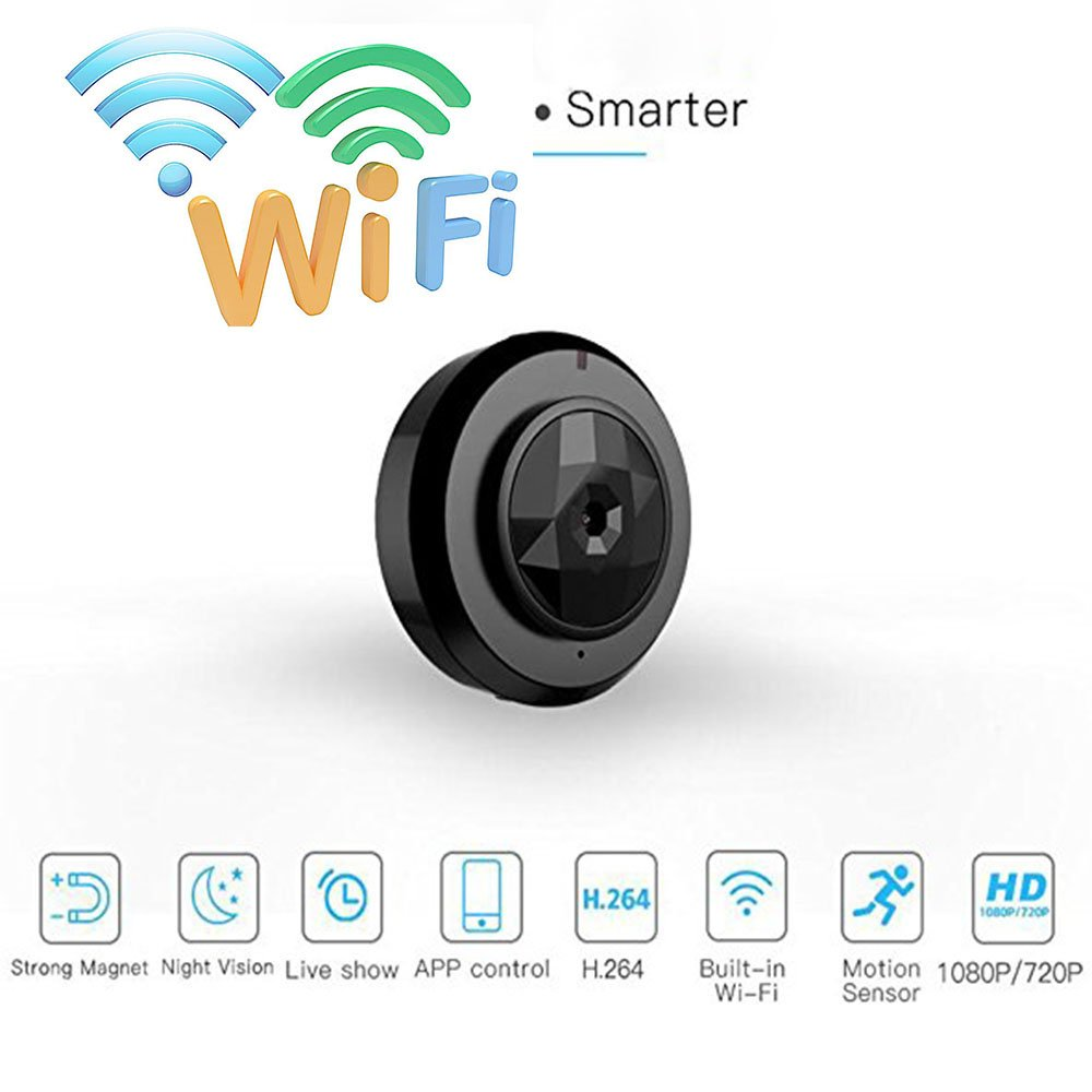 b161a7f611bb Amazon.com   Mini Multi-Functional Smart WiFi Wearable 720P Night Vision C6  Sports Hidden Camera HD Night Vision Wireless Micro Hidden   Camera   Photo
