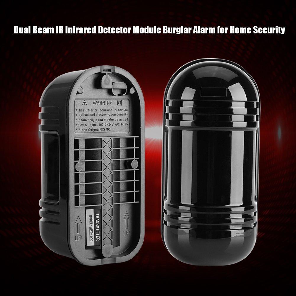 Detector, Detector infrarrojo del Haz Dual de la Alarma del Sensor 100M Seguridad Exterior de la Oficina en el hogar del Garaje