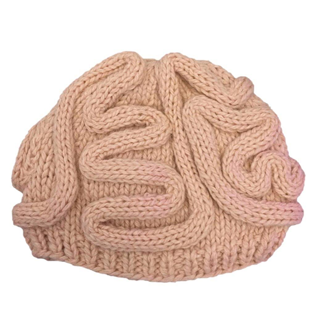 8dd84aca573 Handmade Knitted Funny Cool Winter Personality Horrible Brain Wool yarn  Kniiting Hat Warm Handmade Men s Women s Beanie Caps Gifts Looking for a  unique ...