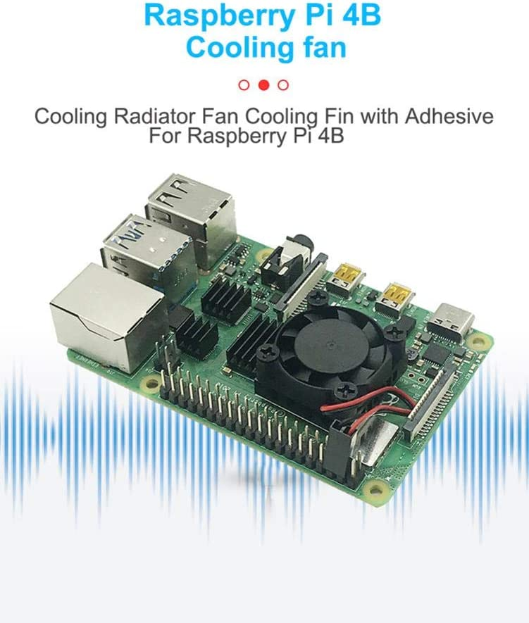 Summeishop for Raspberry Pi 4B Cooling Radiator Fan Cooling Fins Simple and Durable