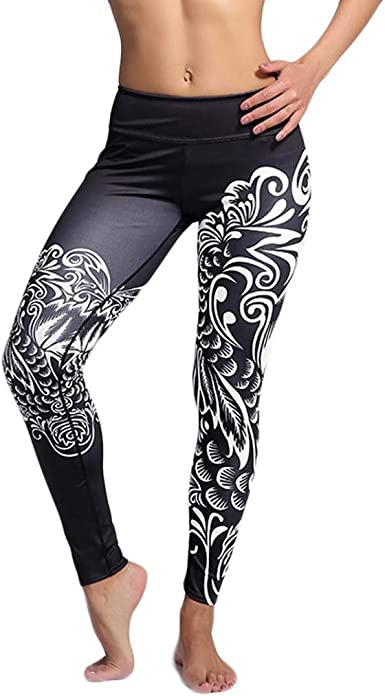 Womens Yoga Booty Shorts Mountain Hill High Waist Compression Tights Slim Fit Stretch Fitness