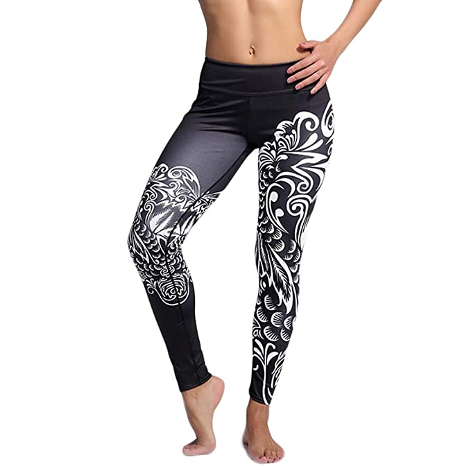 Amazon.com: Goddessvan 2019 Womens High Waist Printed Yoga ...