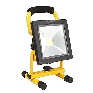 超薄型 20W LED投光器 充電式 バッテリー内蔵 2300LM 6500K ホワイト 防水防塵 長時間点灯 軽量化持ち易い