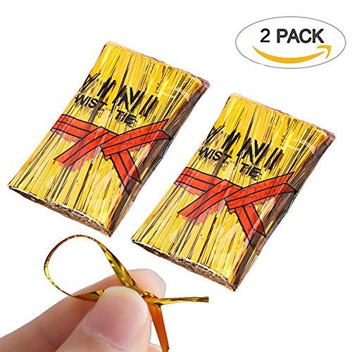 Tangser Gold Bread Candy Bag Ties, Metallic Twist Ties for Treat Bags (1600 Pcs,3.93 in)