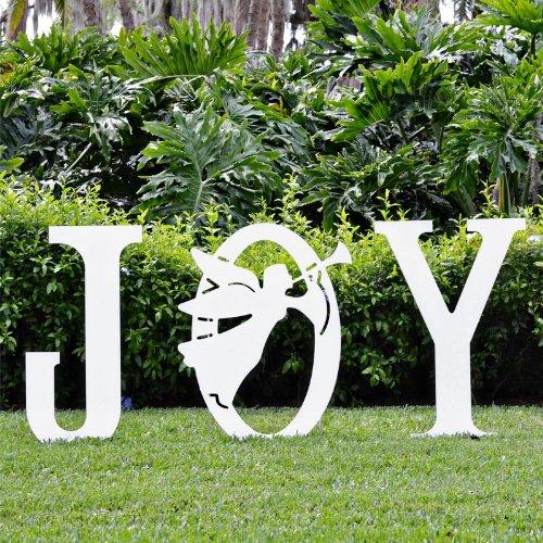 amazoncom teak isle christmas joy angel yard sign yard art garden outdoor