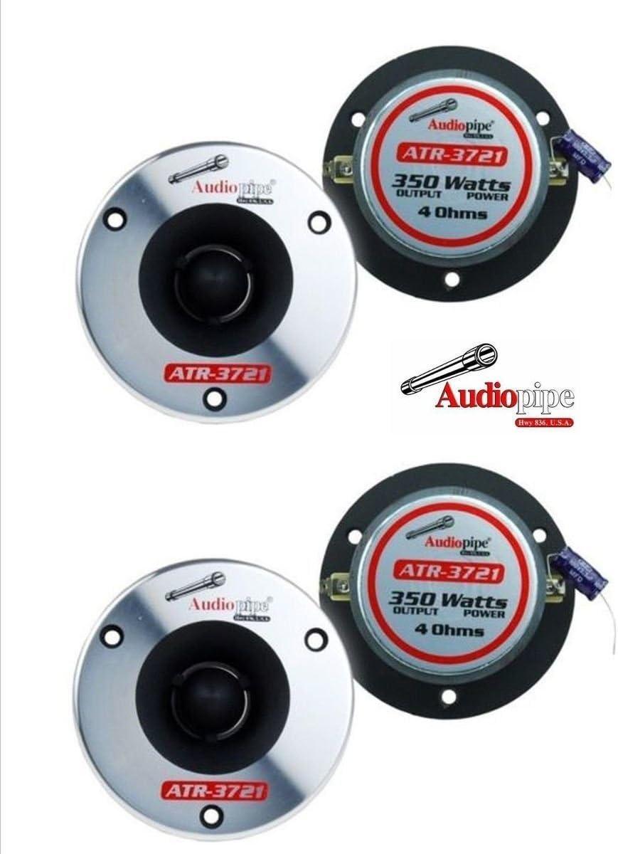 (2 Pair) Audiopipe ATR-3721 350W Max 4 Ohm Titanium Super Bullet Tweeters 61TdE41mdaL