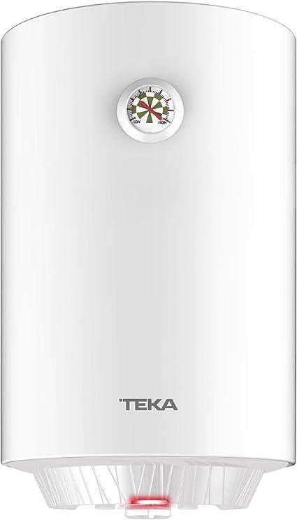 Teka | Termo eléctrico de 30 litros | EWH 30 C | Consumo medio para 1-2 personas | Tanque esmaltado Zafire | Color Blanco
