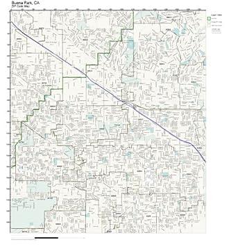 Amazon.com: ZIP Code Wall Map of Buena Park, CA ZIP Code Map Not