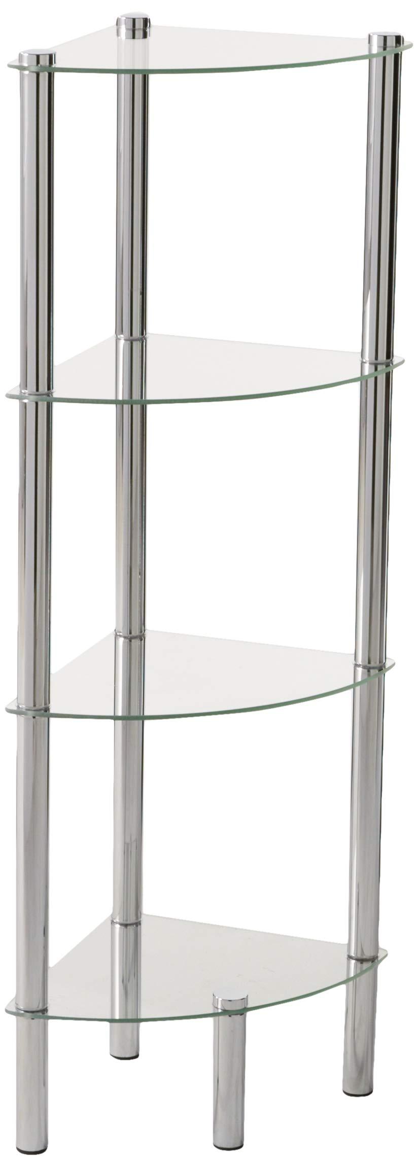Home Basics SA10122 Shelf Corner Glass, 4-Tier by Home Basics