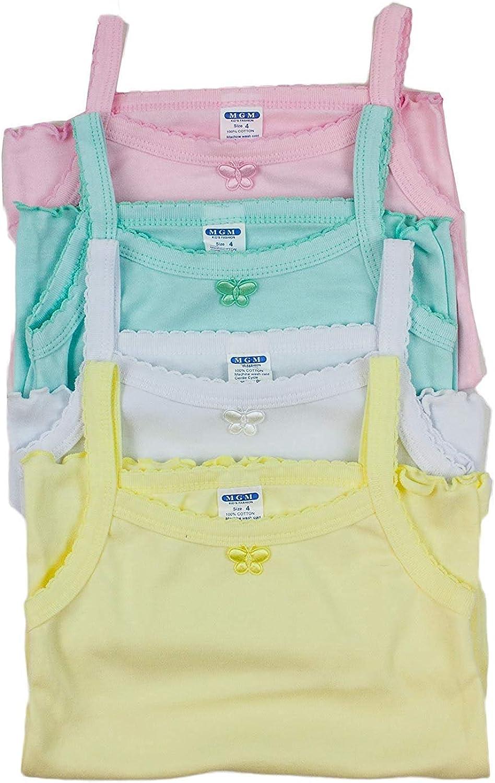 10 Barbra Girls 4 Pack Colorful Undershirt Camisole Tank Top