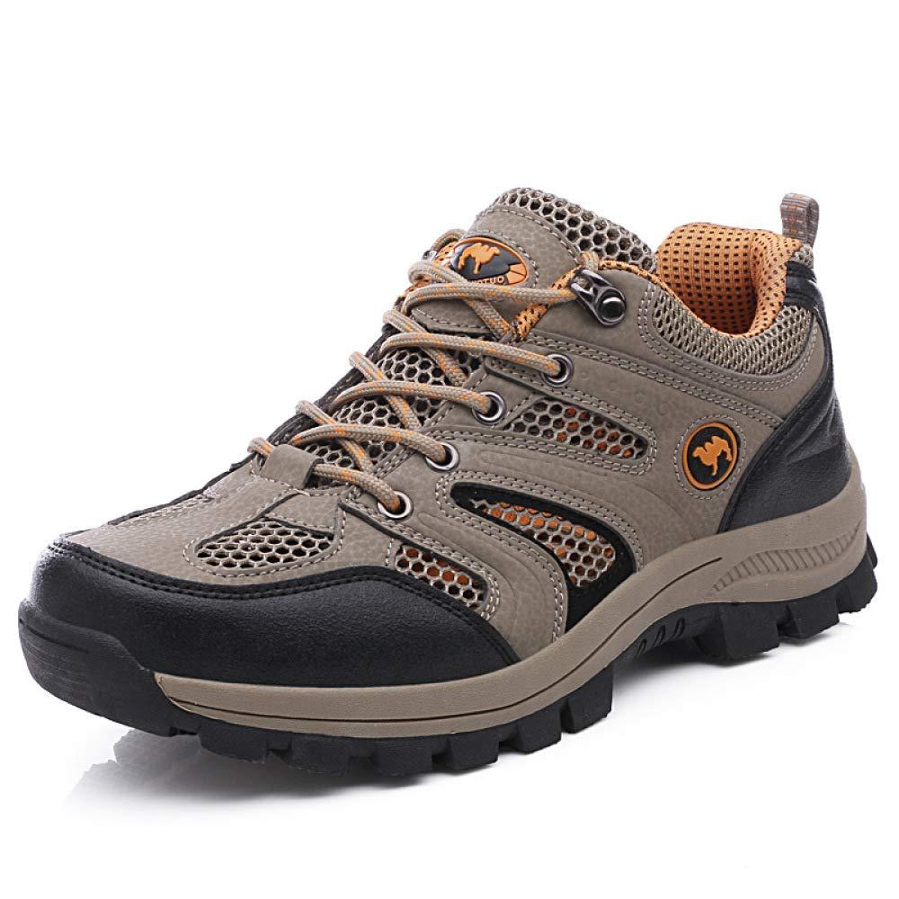 HGDR Männer Wandern Trekking Schuhe Trainer Niedrig Rise Anti-Rutsch Wandern Klettern Trail Running Schuhe Atmungsaktive Schnüren Leichte Draussen Sport Camping Turnschuhe