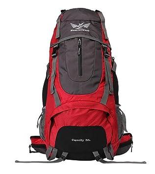 mochilas montaña bolso del alpinismo grandes recorrido de la capacidad mochila bandolera hombres y mujeres de senderismo 50L60L acampar Mochilas de marcha ...