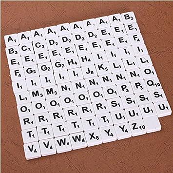 Suxian Juego De Mesa De Azulejos 100 Piezas De Scrabble Azulejos