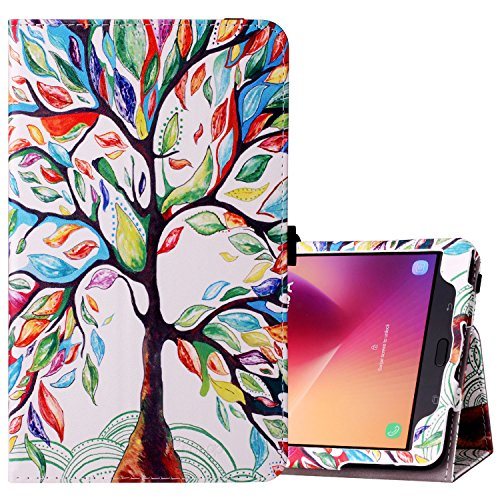 Ztotop Case for Samsung Galaxy Tab A 8.0 2017 Release for T380/T385, Folio Leather Tablet Cover with Auto Wake/Sleep Feature,Lucky Tree